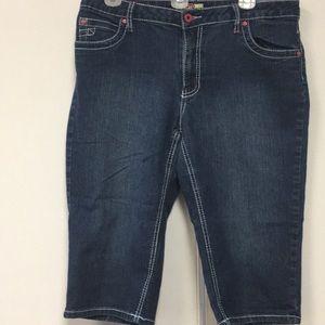 Moto Blues women's jean shorts size 14